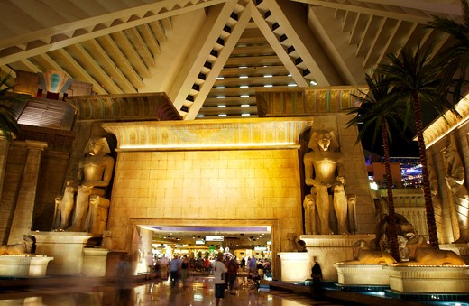 Stock Photo: 4286-30162 Interior of the Luxor hotel and casino Las Vegas, Nevada