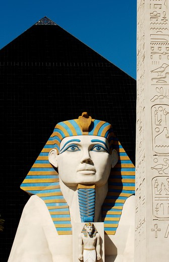 Sphinx at Luxor hotel and casino Las Vegas, Nevada : Stock Photo