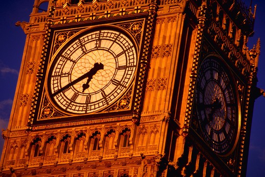 Stock Photo: 4286-30293 Big Ben, Parliament, London.
