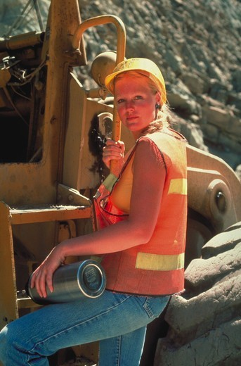 Stock Photo: 4286-30795 Female construction worker