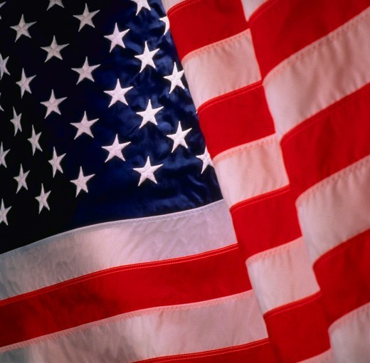 Stock Photo: 4286-31081 American flag