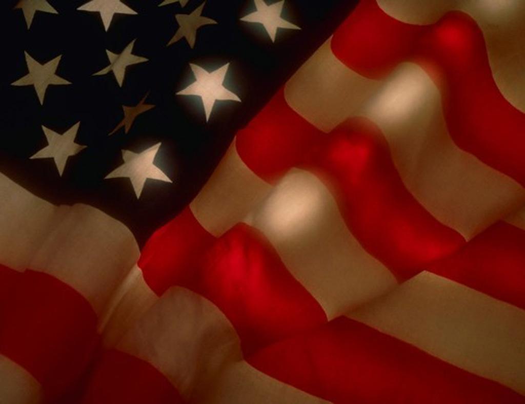 Stock Photo: 4286-31212 American flag