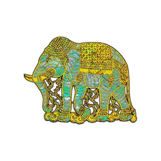 Elephant design based on Thai original : Stock Photo