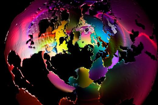Conceptual world map fantasy : Stock Photo