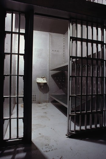 Stock Photo: 4286-34844 Typical prison cell.
