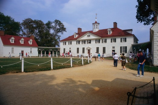 Back entrance of Mount Vernon, George Washington's home, in Virginia. - ED22540 : Stock Photo