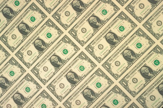 Fields of U.S. currency : Stock Photo