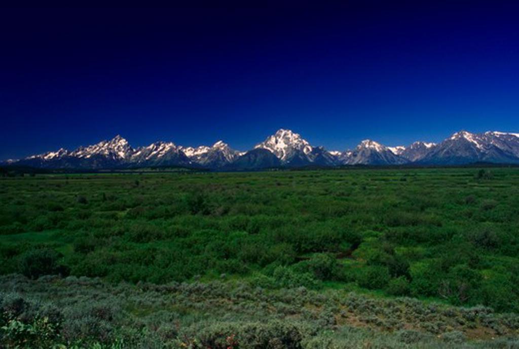 Stock Photo: 4286-35249 Grand Teton Mountains, Wyoming.