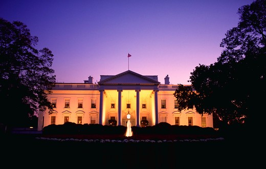 White House at dusk : Stock Photo