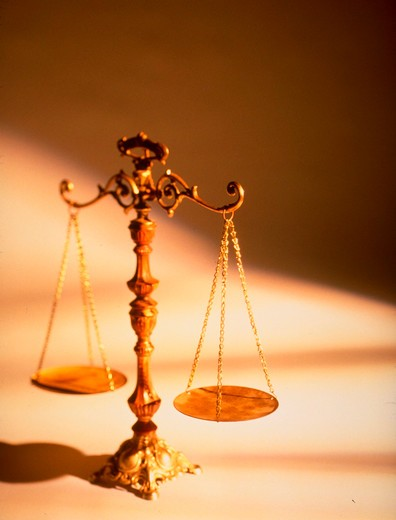 Stock Photo: 4286-35847 Scales of justice.