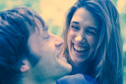 Stock Photo: 4286-37152 Portrait of a cheerful couple.