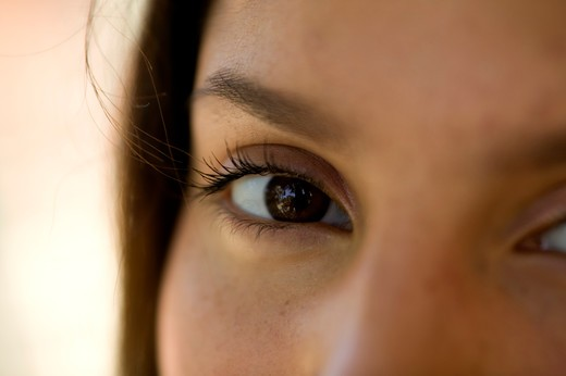 Stock Photo: 4286-38145 Close up of an eye of a woman.