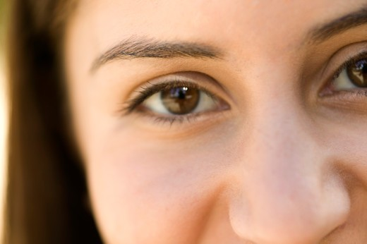 Close up of an eye of a woman. : Stock Photo