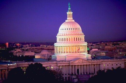 Stock Photo: 4286-39814 The United States Capitol