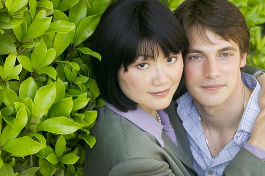 Stock Photo: 4286-40158 Mixed race, Caucasian, Asian couple  MR-0404 MR-0405 PR-0407