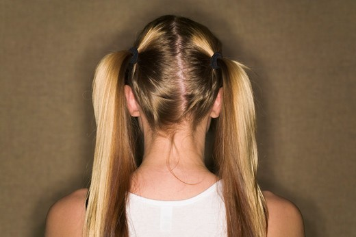 Stock Photo: 4286-40584 Back of womans head .  MR-0534 PR-0536