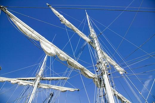 Tall Ship Masts and Spars Victoria British Columbia Canada : Stock Photo