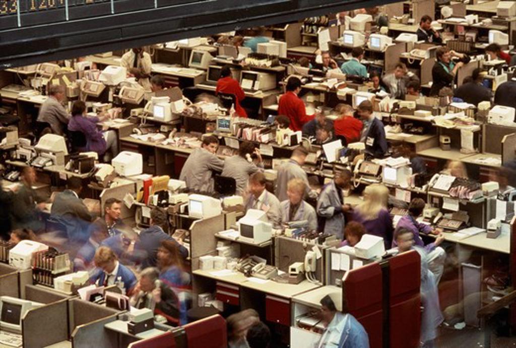 Chicago Board of Trade floor, IL : Stock Photo