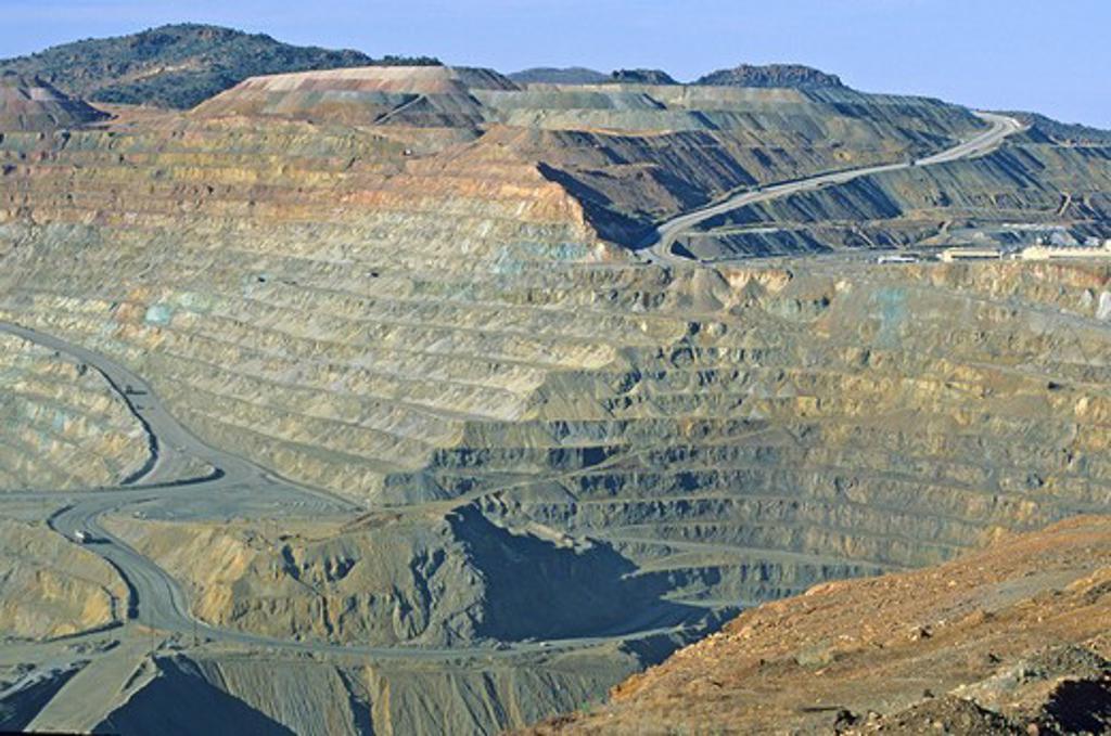 Stock Photo: 4286-41992 Santa Rita Copper Mine Silver City New Mexico