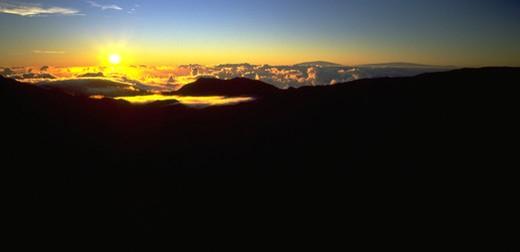 Sunrise, Haleakala, Maui, Hawaii, USA : Stock Photo