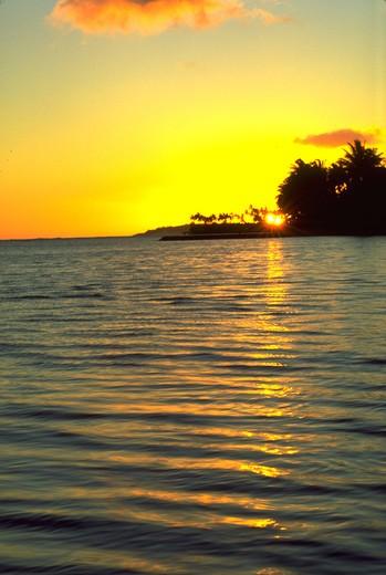 Stock Photo: 4286-44621 Sunset, Hawaii, USA