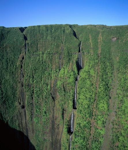 Stock Photo: 4286-44765 Waimanu Valley, Kohala Mountains, Island of Hawaii, Hawaii, USA