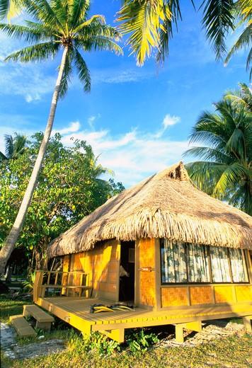 Kia Ora Village, Rangiroa, French Polynesia : Stock Photo