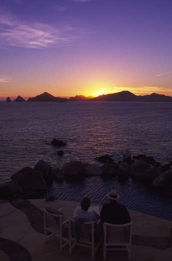 Stock Photo: 4286-45133 Sunset, Cabo San Lucas, Baja California, Mexico