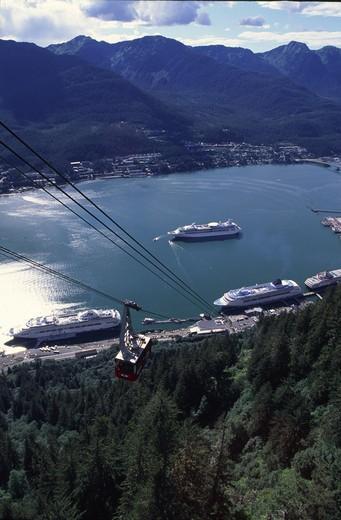 Stock Photo: 4286-45376 View from aerial tram, Juneau, Alaska