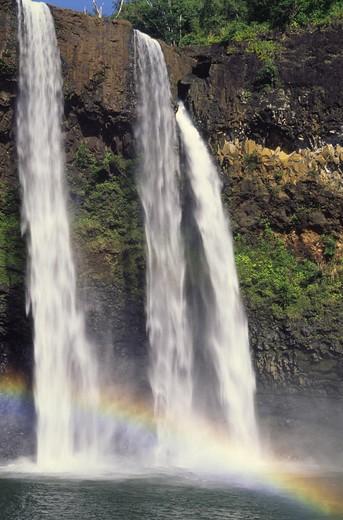 Stock Photo: 4286-46154 Wailua Falls, Kauai, Hawaii, USA