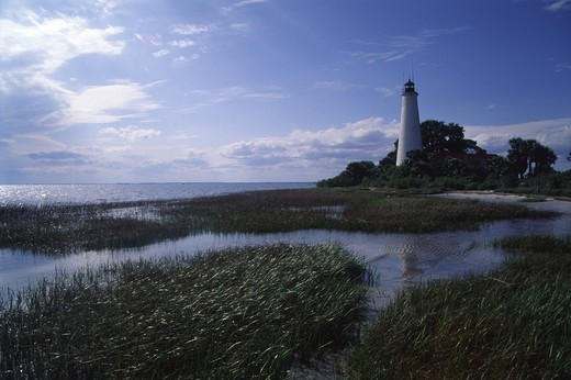 St. Marks Lighthouse, Florida : Stock Photo