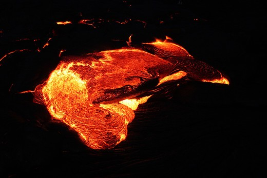 Stock Photo: 4286-47104 Pahoehoe Lava, Kilauea Volcano, Hawaii Volcanoes National Park, Island of Hawaii, Hawaii, USA