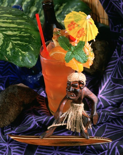 Zombie, Rum Punch, Tropical Drink : Stock Photo
