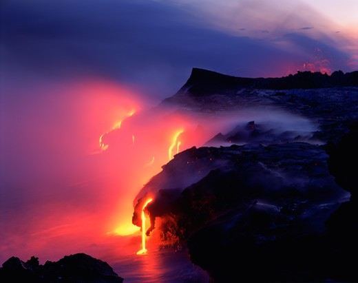 Stock Photo: 4286-47739 Kilauea Volcano, Hawaii Volcanoes National Park, Island of Hawaii, Hawaii, USA