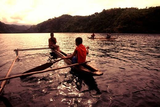 Stock Photo: 4286-48421 Outrigger Canoe, Tufi, Papua New Guinea