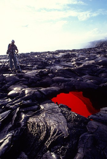Stock Photo: 4286-48684 Skylight, Kilauea Volcano, Hawaii Volcanoes National Park, Island of Hawaii, Hawaii, USA