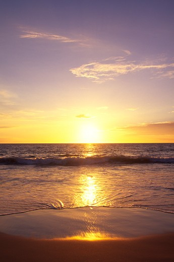 Stock Photo: 4286-48690 Sunset, Wailea, Maui, Hawaii, USA
