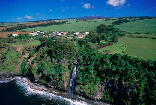 Stock Photo: 4286-49657 Waterfall, Hamakua Coast, Island of Hawaii, Hawaii, USA