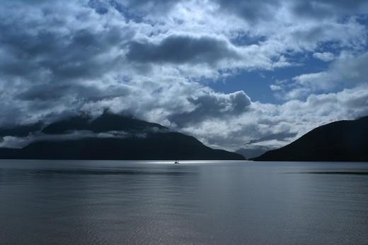 Doubtful Sound, South Island, New Zealand : Stock Photo