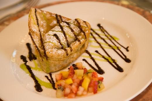 Stock Photo: 4286-51680 Fried won ton apple desert
