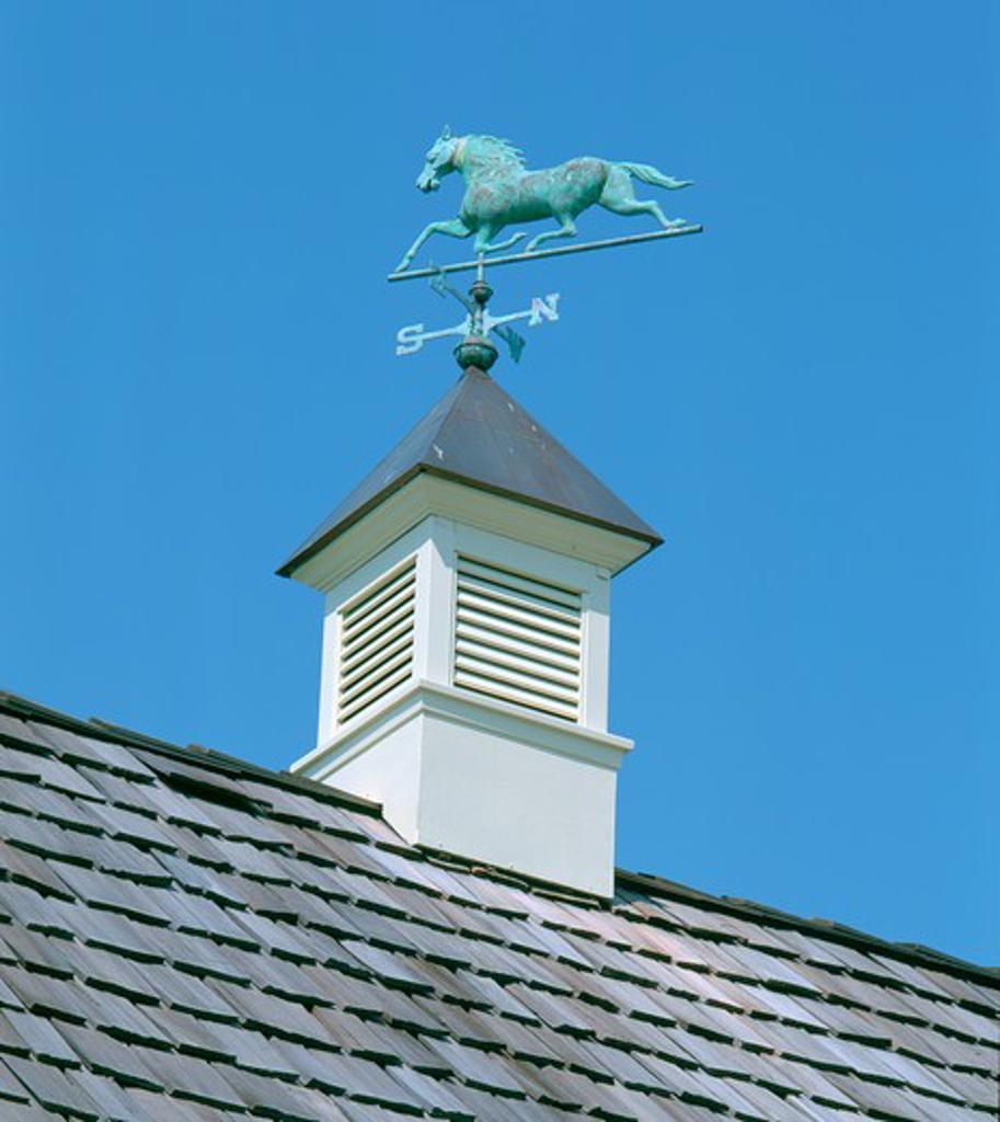 Stock Photo: 4286-53229 Bronze horse weathervane