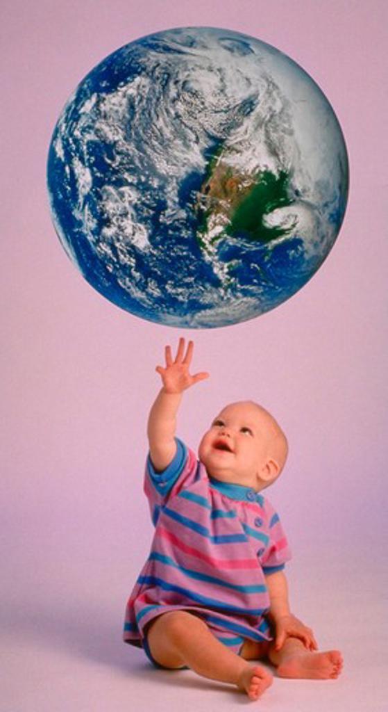 Earth baby : Stock Photo