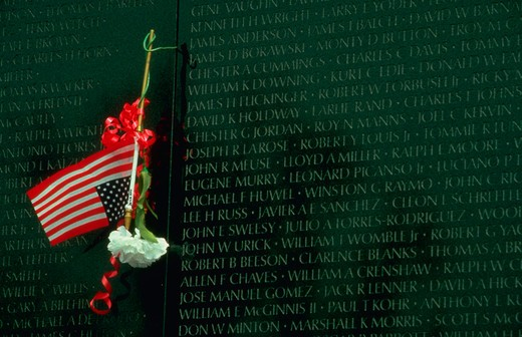 Stock Photo: 4286-54776 Detail of Vietnam Memorial in Washington, DC.