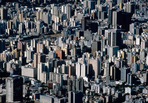 Stock Photo: 4286-54893 Aerial view of dozens of high-rises in downtown Caracas, Venezuela.