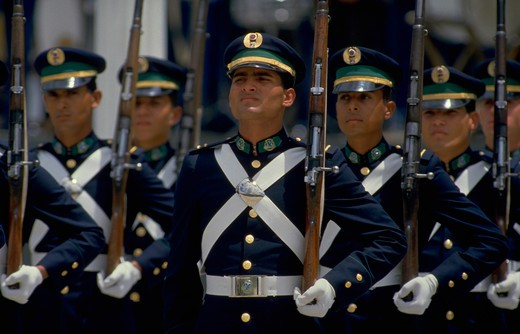 Stock Photo: 4286-54899 Military parade on Venezuelan Independence Day in Caracas, Venezuela.