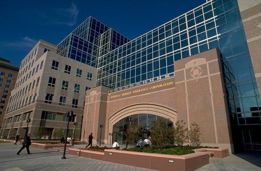 Exterior of the FDIC's Seidman Center office and hotel complex, Arlington, Virginia. : Stock Photo