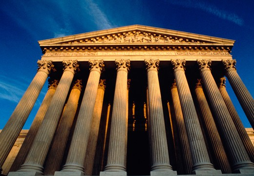 Stock Photo: 4286-54928 Exterior of the United States Supreme Court building, Washington, DC.