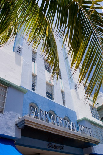 MIAMI BEACH, FLORIDA, USA - The Park Central Hotel building, Art Deco architecture, Ocean Drive, South Beach. : Stock Photo