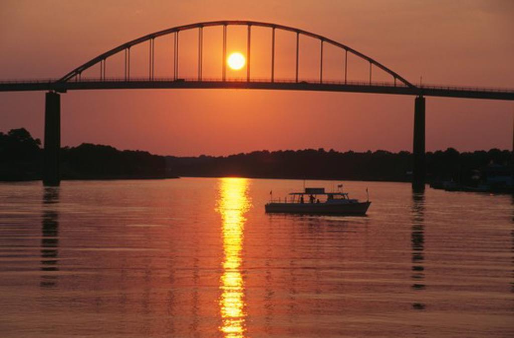 Stock Photo: 4286-56228 Bridge over Chesapeake Canal, Maryland.