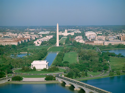 Stock Photo: 4286-56307 Aerial view, Washington DC